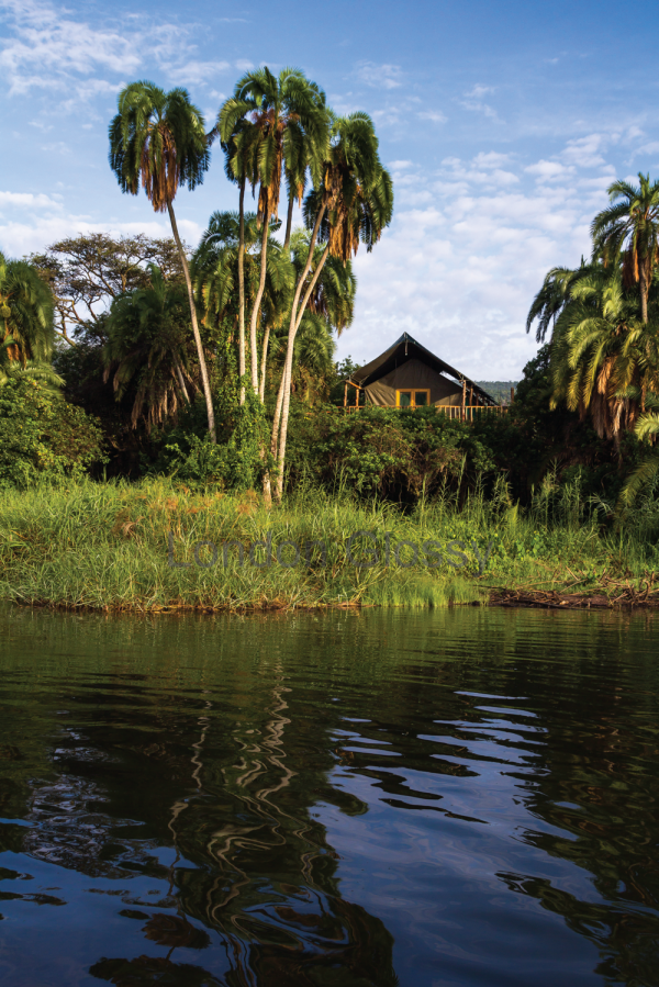 Ruzuzi Tented Lodge from the water