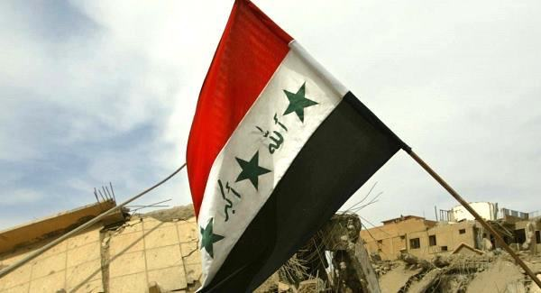 Iraq Flag; U.S. influence in Middle East is now a problem of Hezbollah