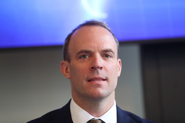 Dominic Raab, Boris Johnson has deputy replacement temporary while recovering