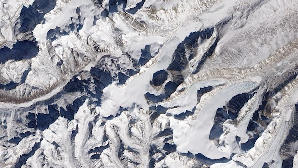 Glaciers in the Himalayas, China,