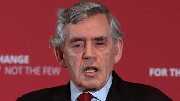 Gordon Brown talks about the anti-semitism in the Labour Party