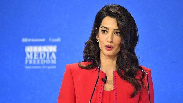 Amal Clooney accuses Trump of making the world vulnerable to media