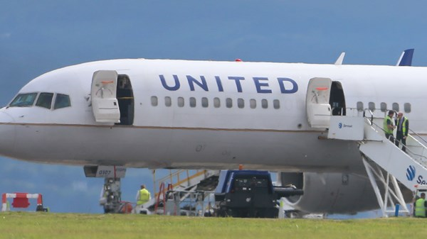 United Airlines en-route to Newark stopped after pilot failed breathalyzer.