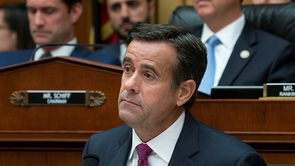 John Ratcliffe resigns from national intelligence position to remain in conference.