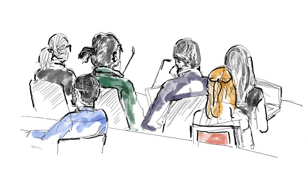 ASAP Rocky illustrated in court