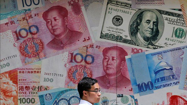 Chinese Yuan devalued during the tariff imposed by the US