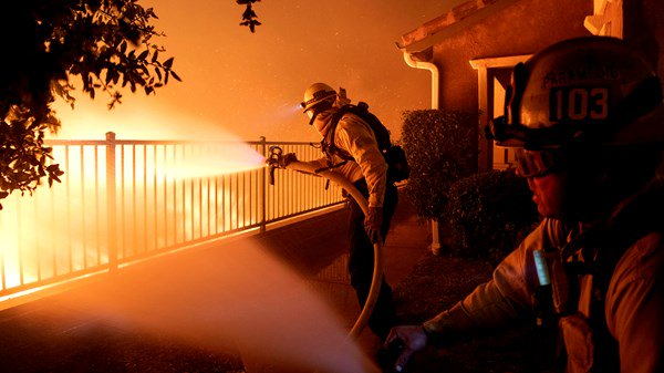 33% of California wildfire contained