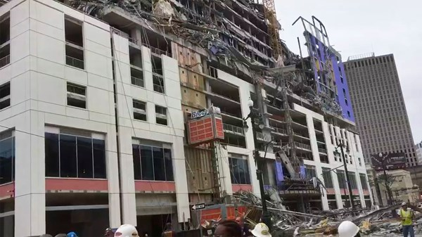 Hotel in New Orleans collapse