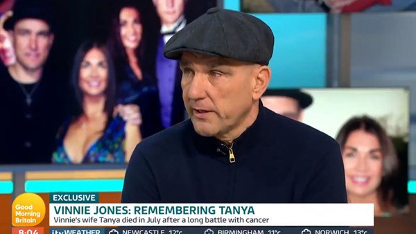 Vinnie Jones goes on television discussing the death of wife