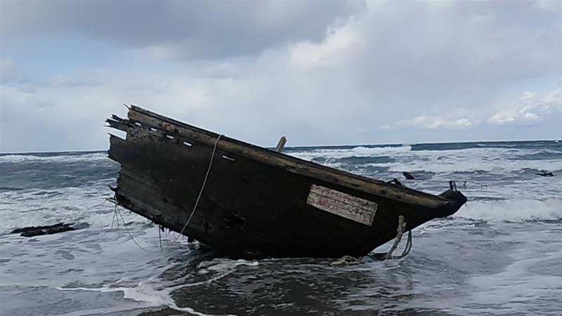 North Korean Boat washes on shore in Japan