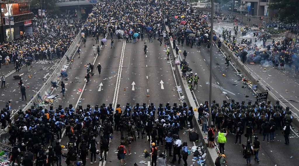 Hong Kong Protests have pushed the economy into recession