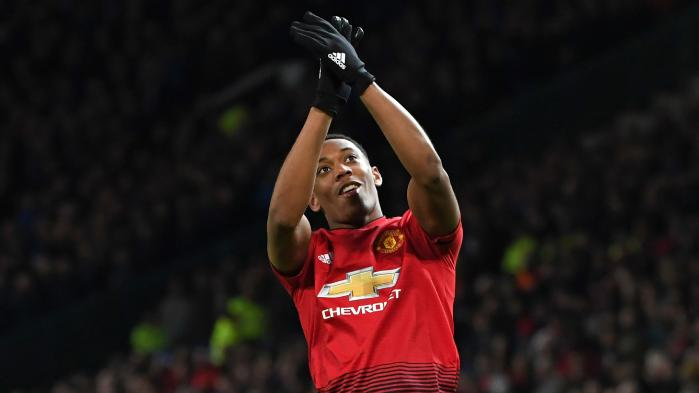 Anthony Martial's goal put manchester ahead for victory