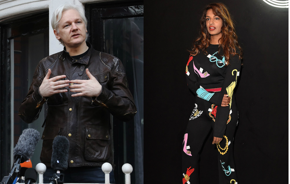 MIA has been supporting Julian Assange