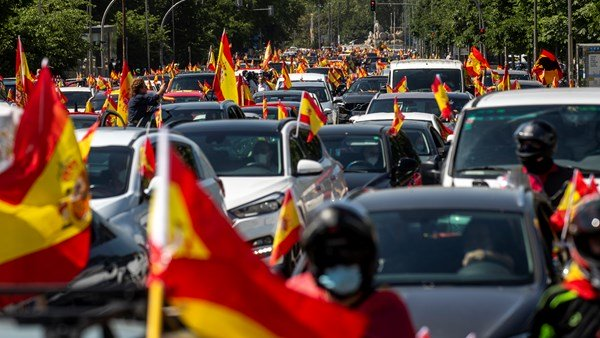 Spain Europe, protests occur