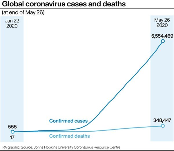 Coronavirus deaths and cases