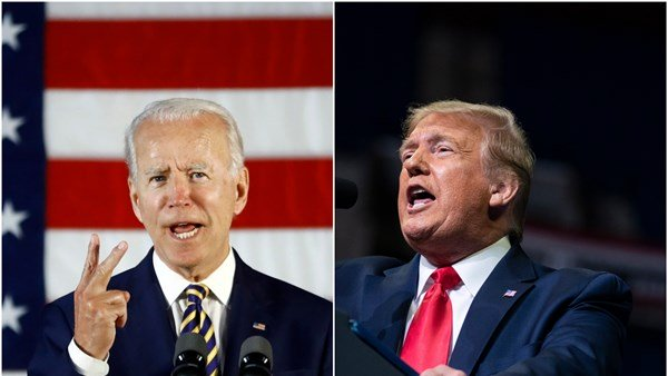 US presidential candidates Donald Trump and Joe Biden