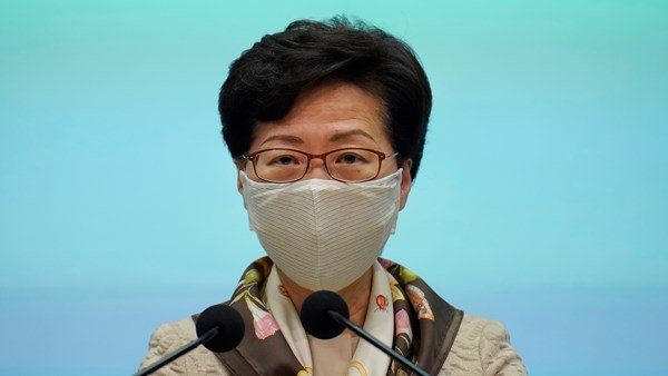 Carrie Lam talks about the double standard inn US protests