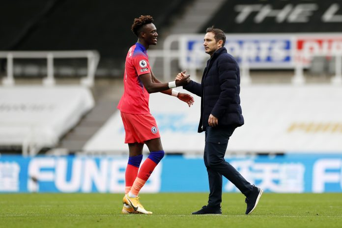 Tammy Abraham scores the second goal to put Newcastle away and secure the 3 points for Chelsea