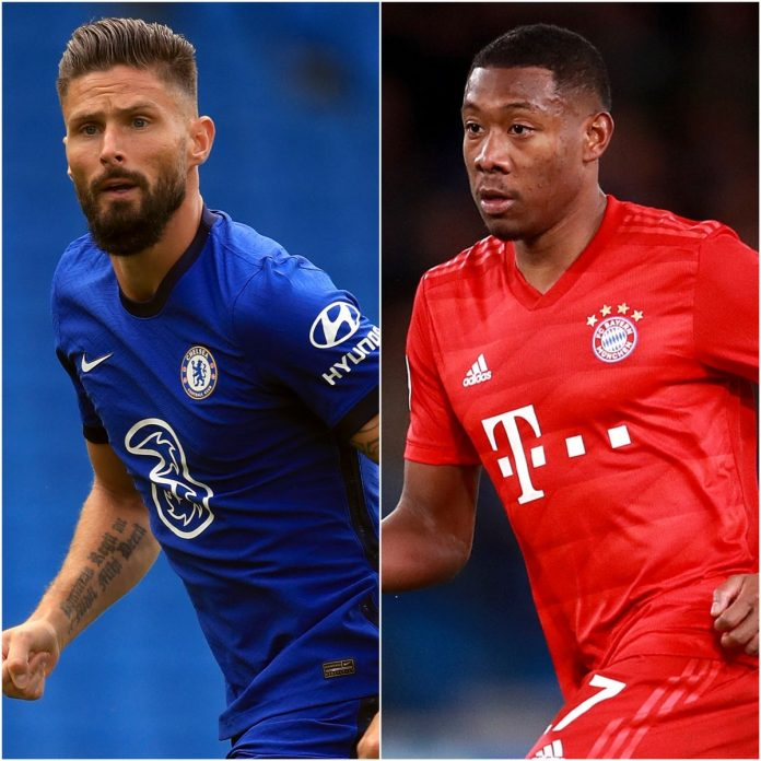 Chelsea looking to move Olivier Giroud and eye David Alaba from Bayern Munich